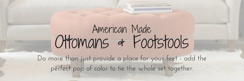 American Made Ottomans & Footstools, Amish Ottomans & Footstools