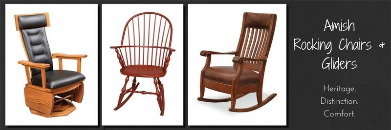 Amish rocking chairs, handcrafted in the USA
