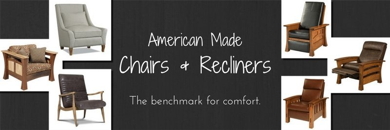 Amish Lounge Chairs, Amish Recliners, American Made Lounge Chairs, American Made Recliners