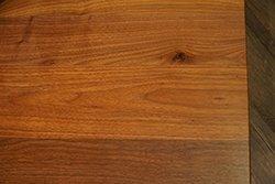Edge of Table in Walnut Wood