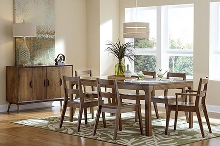 Brown Maple on Copenhagen Dining Set