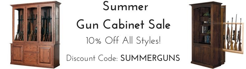 Summer Wooden Gun Cabinet Sale - 10% Off All Styles