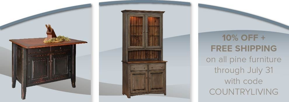 Country Living Pine Furniture Sale - 10% Off Plus Free Shipping