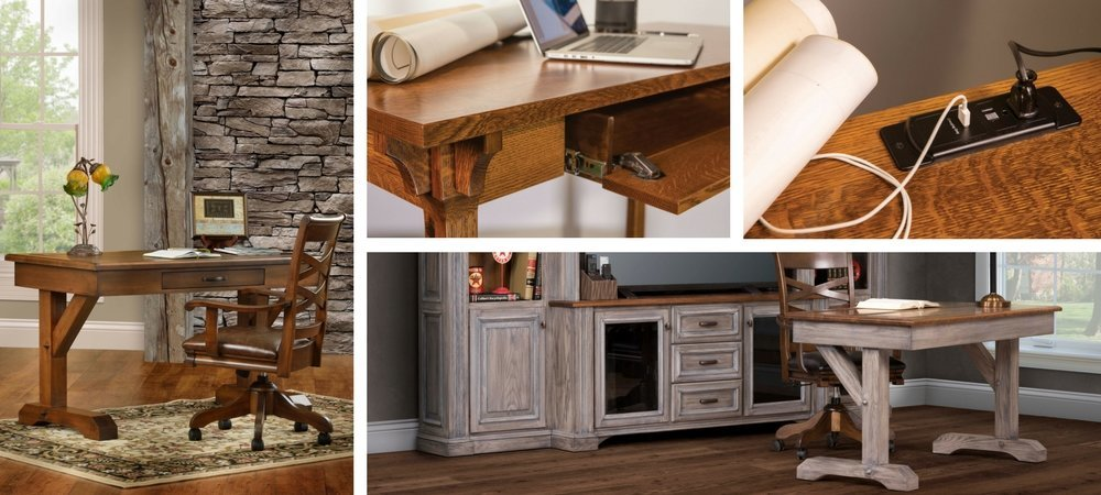 Solid Wood Writing Desks from DutchCrafters Amish Furniture