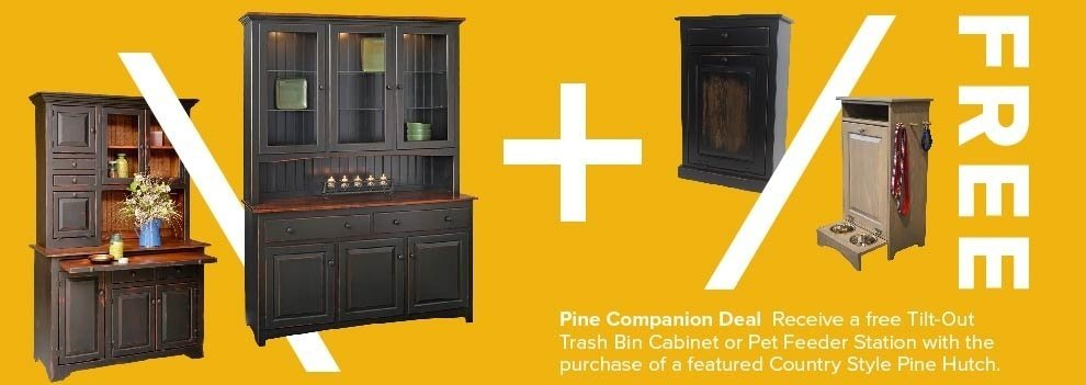 Free Pet Feeder Station or Trash Bin Cabinet with a Hutch Purchase