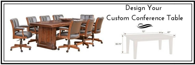 Custom Solid Wood Conference Tables by DutchCrafters Amish Furniture