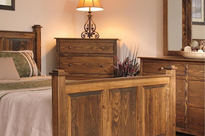 American Shaker Pine Wood Bedroom Set