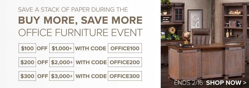 Office Furniture Sale - Up to $300 Off Entire Order