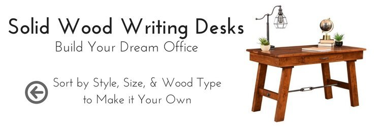 Custom Solid Wood Writing Desks by DutchCrafters Amish Furniture