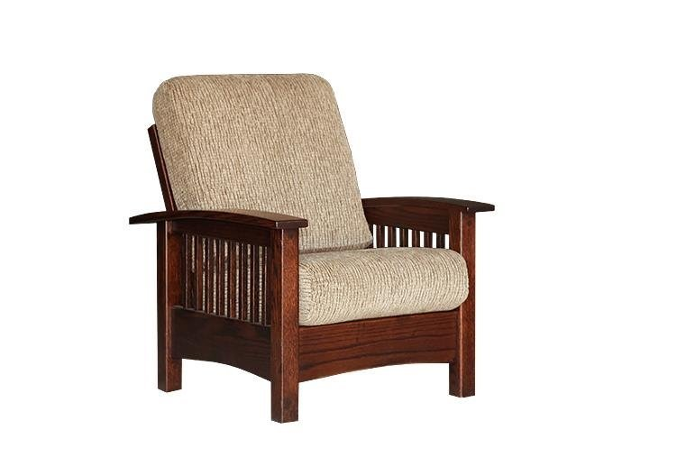 Amish Kids' Chair, solid wood, fabric