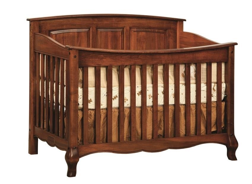 Amish crib, nursery, solid wood, American made