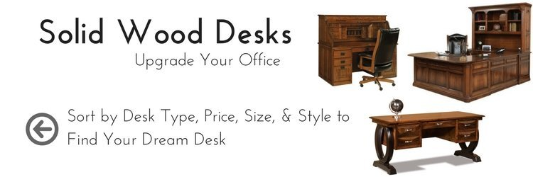 Handcrafted Solid Wood Desks by DutchCrafters Amish Furniture