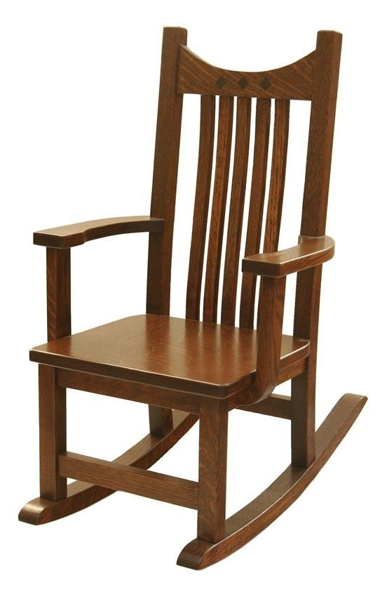kids wooden rocking chair, amish