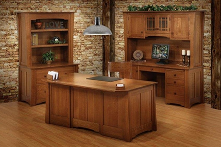 Jamestown Desk Set in White Oak with F.W. Saratoga Stain