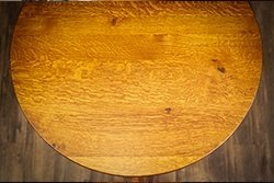 Example of flecking on Quarter Sawn White Oak Pub Table Top