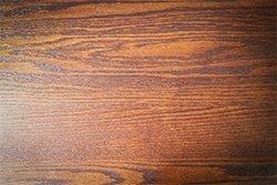 Oak wood has a defined grain pattern.