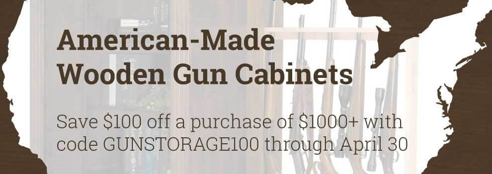 Solid Wood Gun Cabinet Sale - $100 off orders of $1,000 or more