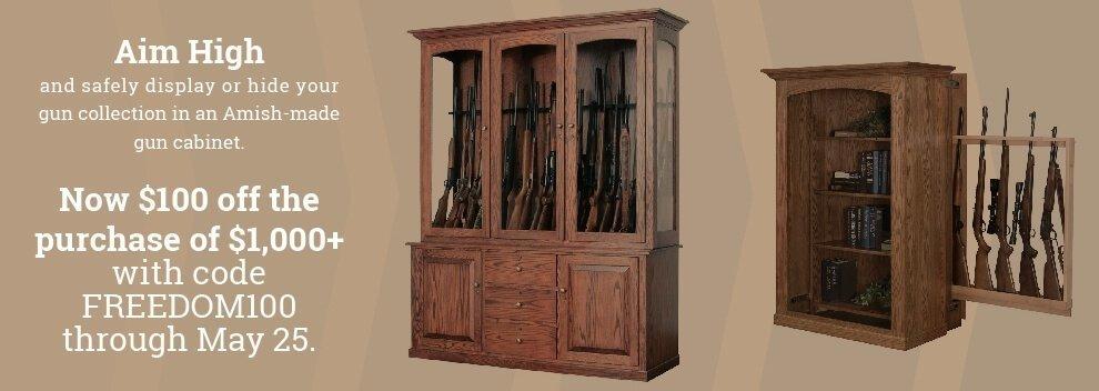 Gun Cabinet Sale - $100 Off
