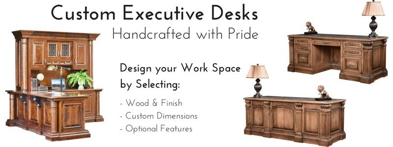 Custom Solid Wood Executive Desks by DutchCrafters Amish Furniture