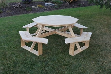 """Amish Pressure Treated Pine Wood 54"""" Octagon Walk-In Table"""