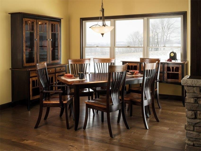 Amish Dining Set, Solid Wood Table Handcrafted In America