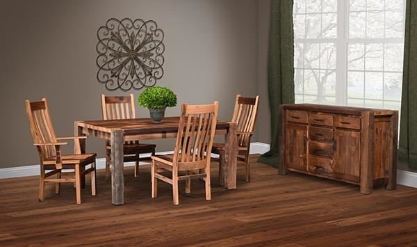 Reclaimed Wood Dining Room Collection by DutchCrafters Amish Furniture