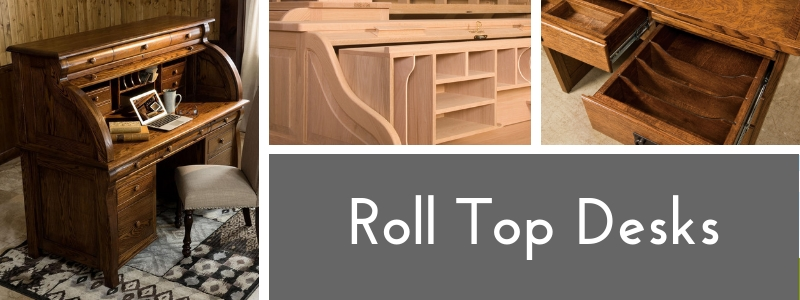 Custom Rolltop Desks from DutchCrafters Amish Furniture