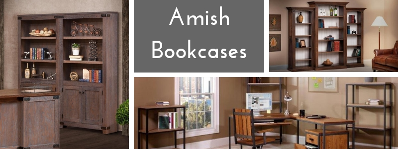 Amish Solid Wood Bookcases from DutchCrafters Amish Furniture