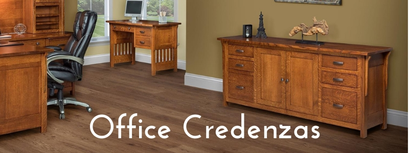 Solid Wood Office Credenzas from DutchCrafters Amish Furniture