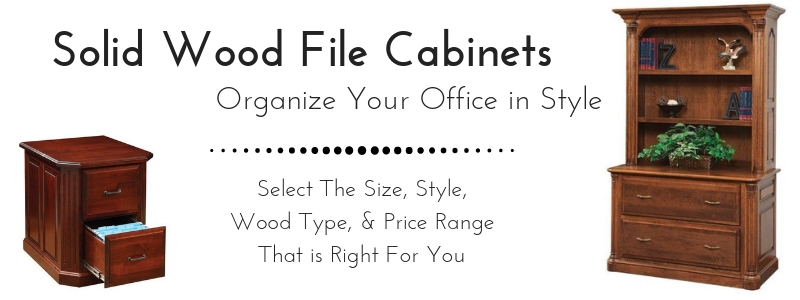 Amish Solid Wood File Cabinets from DutchCrafters Amish Furniture