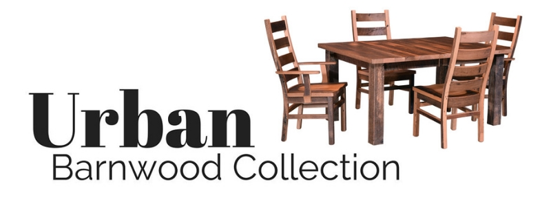 Urban Reclaimed Barnwood Furniture Collection from DutchCrafters Amish Furniture