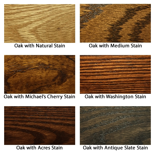 Stains on oak furniture