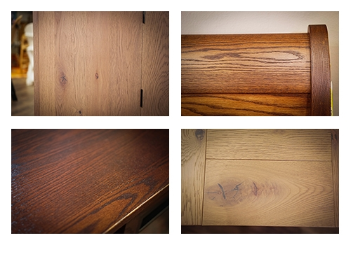 Examples of grain in oak furniture