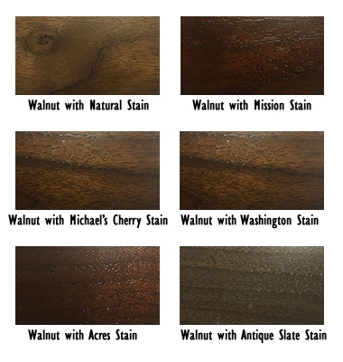 Examples of Walnut Wood and Stains