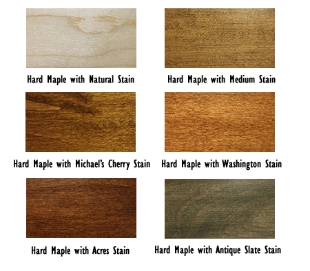 Hard Maple Stains