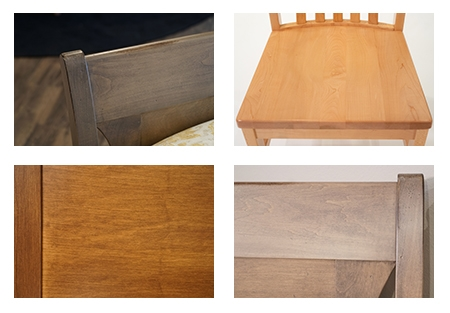 Examples of hard maple furniture