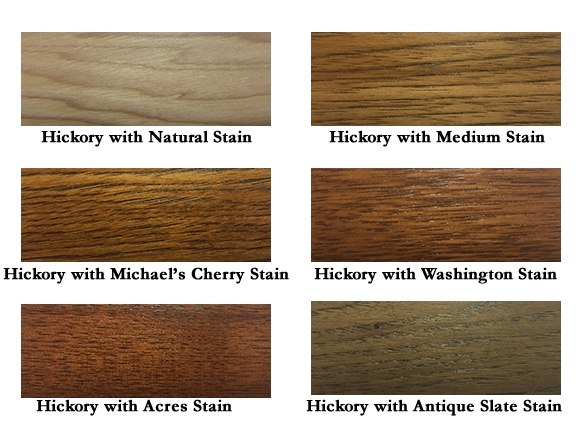 Stains on Hichory Wood