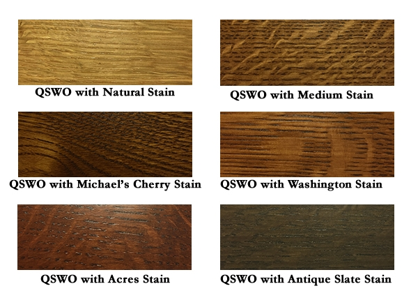Stains on Quarter Sawn White Oak