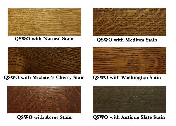 Stains on Quarter Sawn White Oak