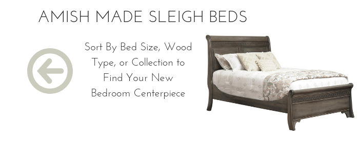 Solid Wood Amish Sleigh Beds