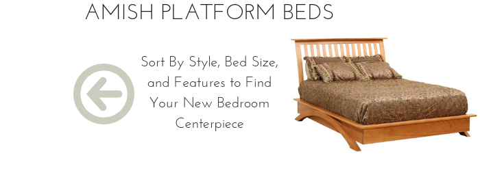 Solid Wood Platform Beds from DutchCrafters Amish Furniture
