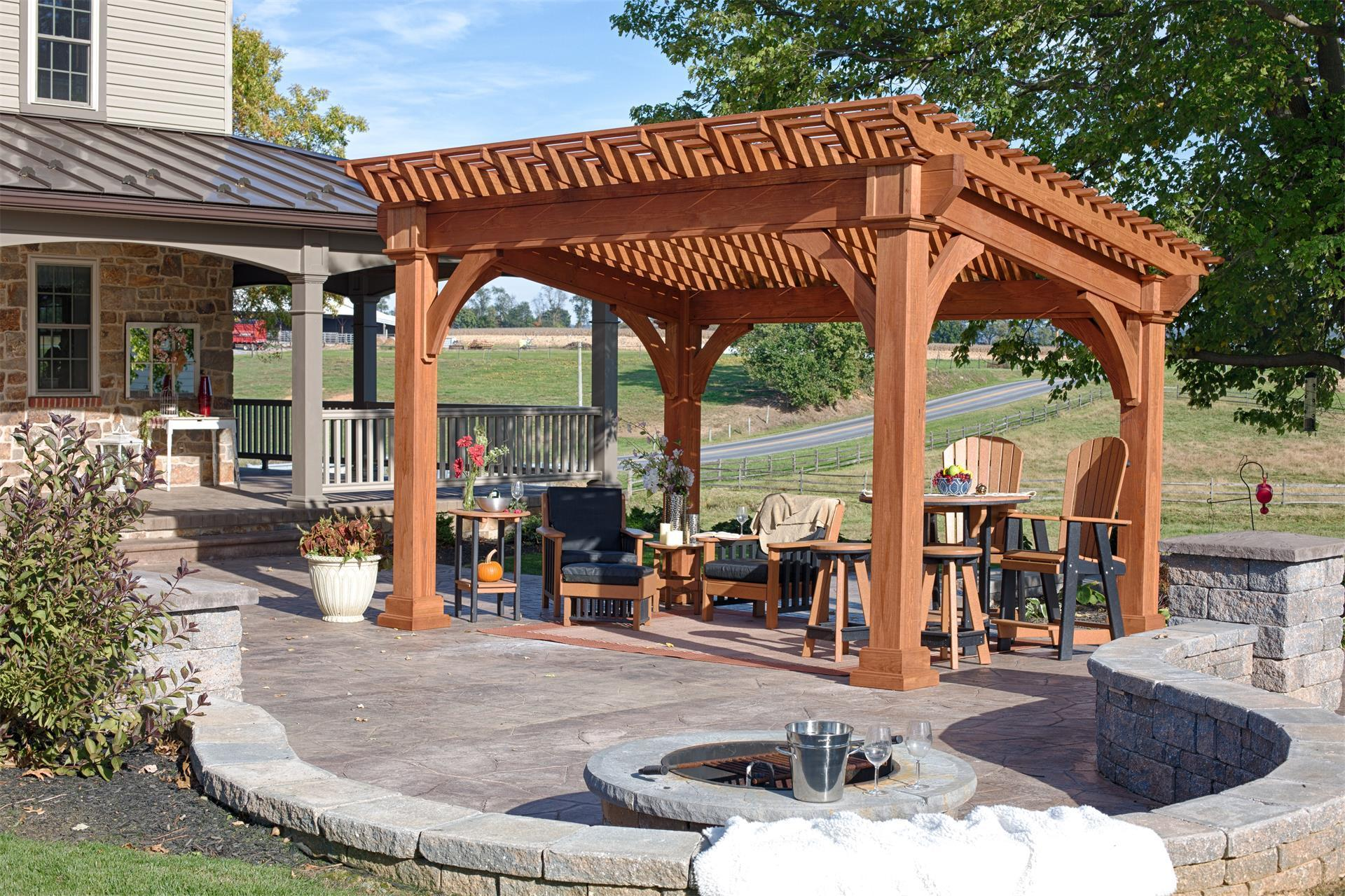Santa Fe Pine Pergola from DutchCrafters Amish Furniture