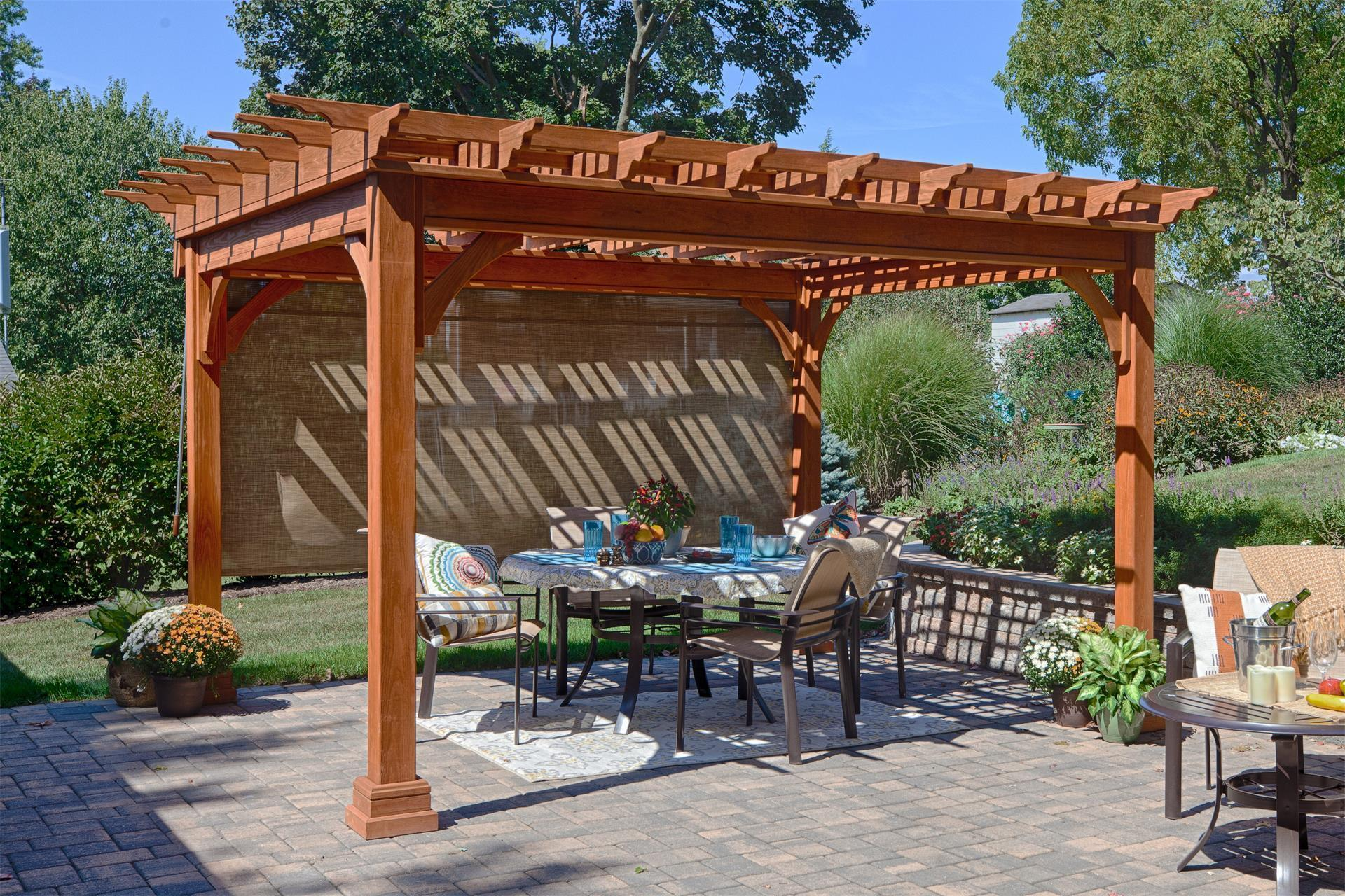 amish traditional pine pergola kit - Pergola Kit