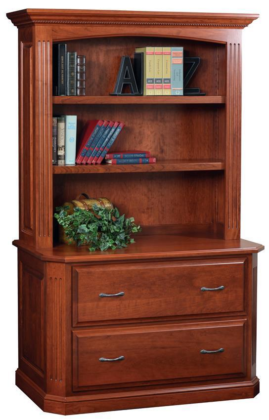 Nice Amish Buckingham Lateral File Cabinet With Optional Bookshelf
