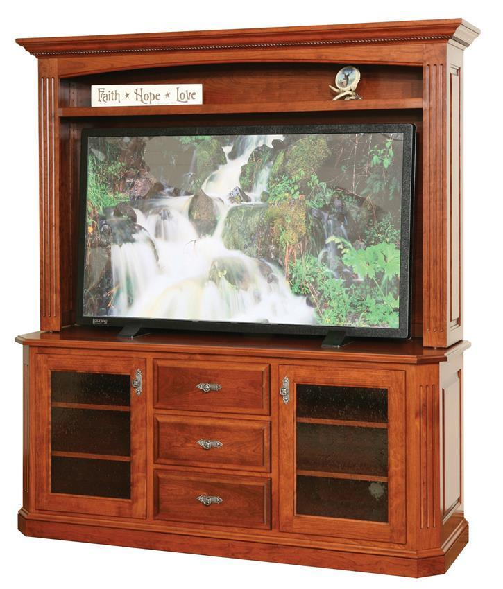 Buckingham Plasma TV Stand with Optional Hutch Top from DutchCrafters
