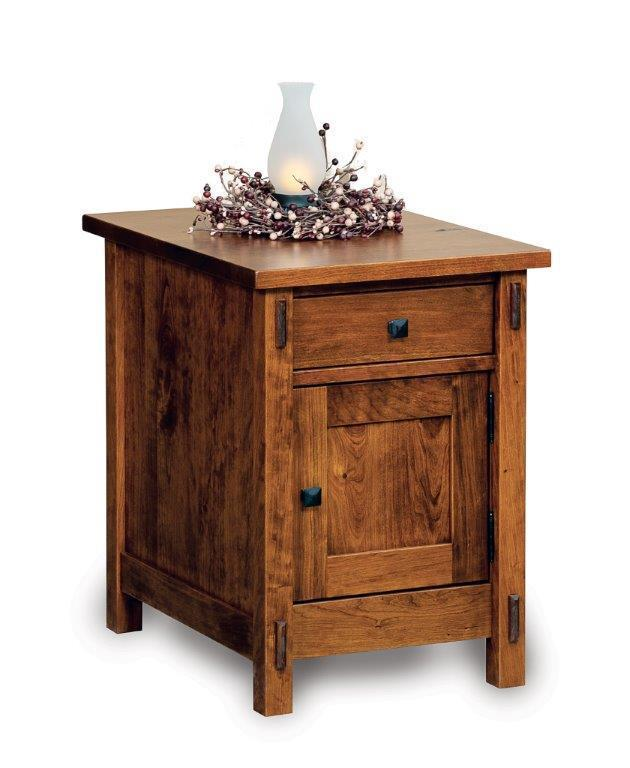 Amish Centennial Enclosed End Table With Drawer An