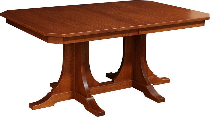 Copper Canyon Mission Double-Pedestal Dining Room Table