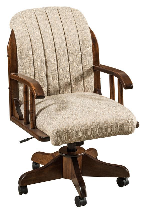 delray upholstered desk chair from dutchcrafters amish furniture