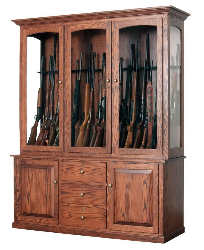 deluxe 20-gun cabinet from dutchcrafters amish furniture
