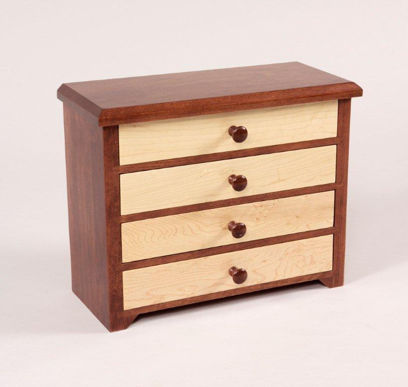 Curly Maple Shaker Jewelry Chest from DutchCrafters Amish Furniture